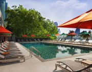 Relax beside the riverside pool and soak up some of Bangkok's sun